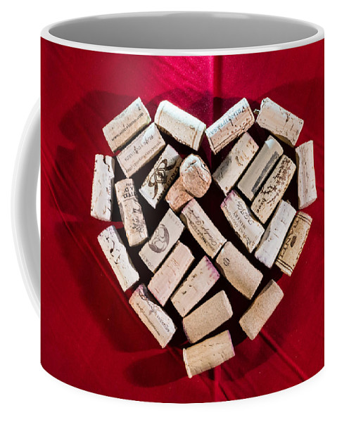 Red Coffee Mug featuring the photograph I Love Red Wine by Photographic Arts And Design Studio