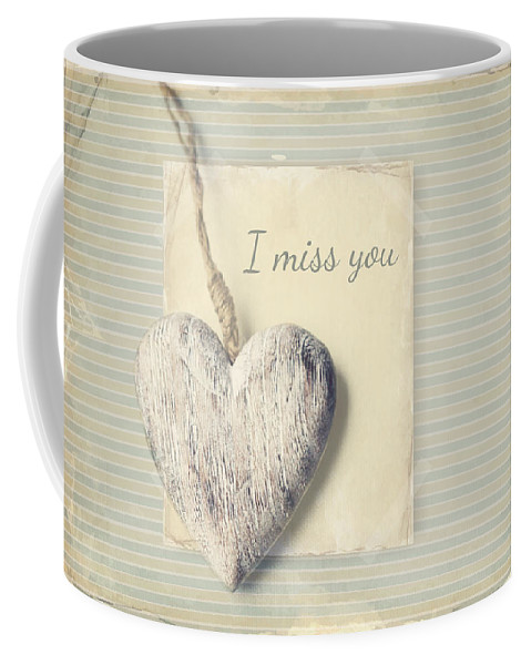 Love Coffee Mug featuring the photograph I Miss You by Heike Hultsch