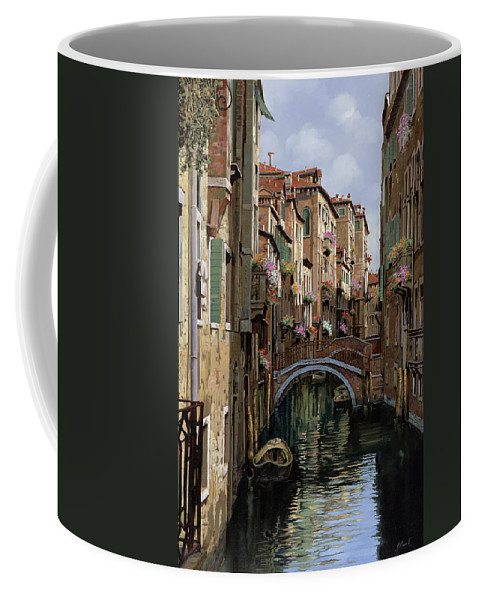Venice Coffee Mug featuring the painting I Ponti A Venezia by Guido Borelli