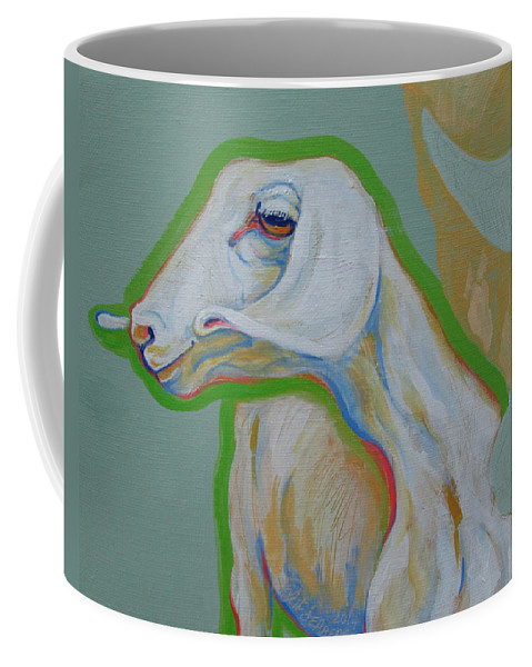 Goat Coffee Mug featuring the painting I See Something by Jeff Seaberg