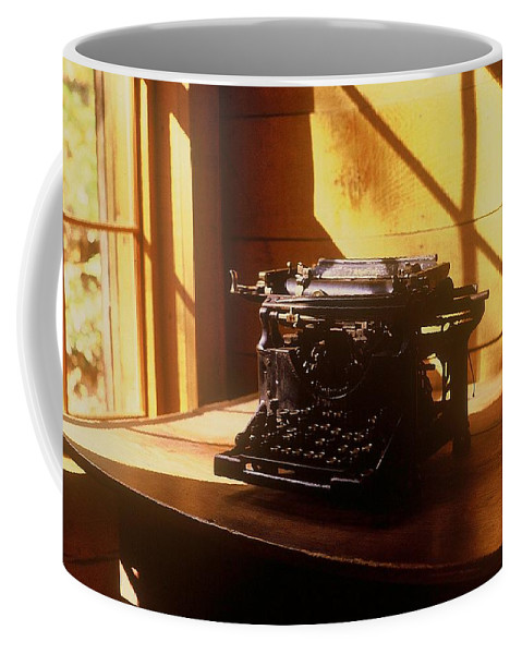 Typewriter Coffee Mug featuring the photograph I Write No More by Rodney Lee Williams