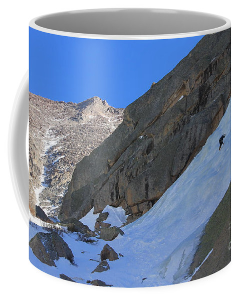 Ice Coffee Mug featuring the photograph Ice Climbers In A Stark Contrast by Tonya Hance