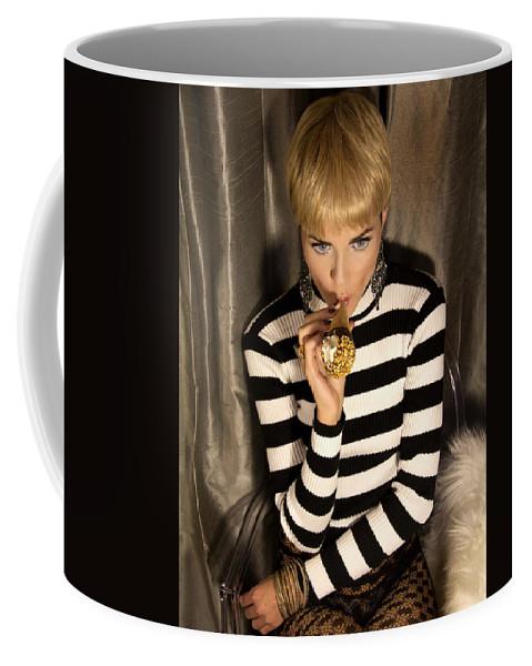 Edie Sedgwick Coffee Mug featuring the photograph Ice Cream Dream Girl by William Dey