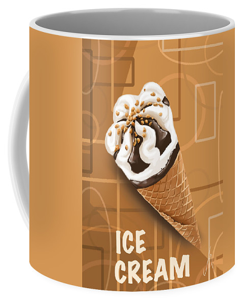 Ipad Coffee Mug featuring the digital art Ice Cream by Veronica Minozzi
