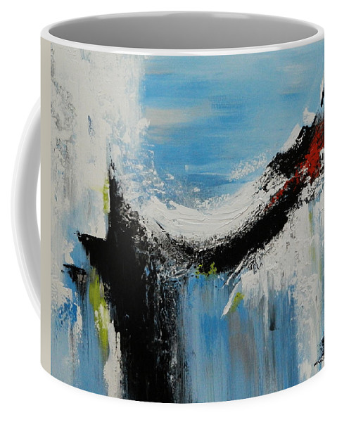Abstract Coffee Mug featuring the painting Ice Fall by Dan Campbell
