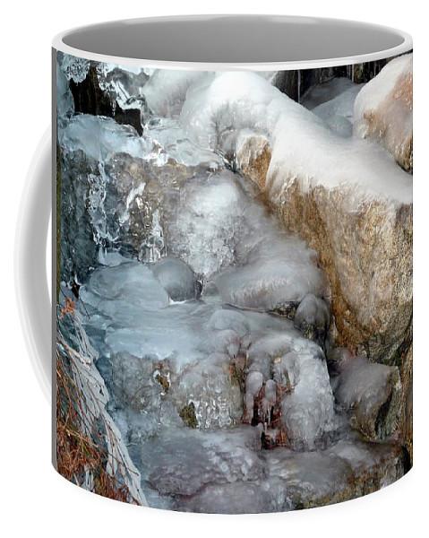 Ice Coffee Mug featuring the photograph Ice Rock by Nicki Bennett