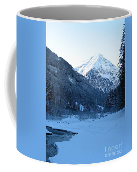 Snow Coffee Mug featuring the photograph Iceblue Snow by Christiane Schulze Art And Photography