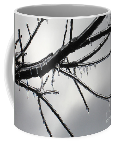 Winter Coffee Mug featuring the photograph Iced Tree by Ann Horn