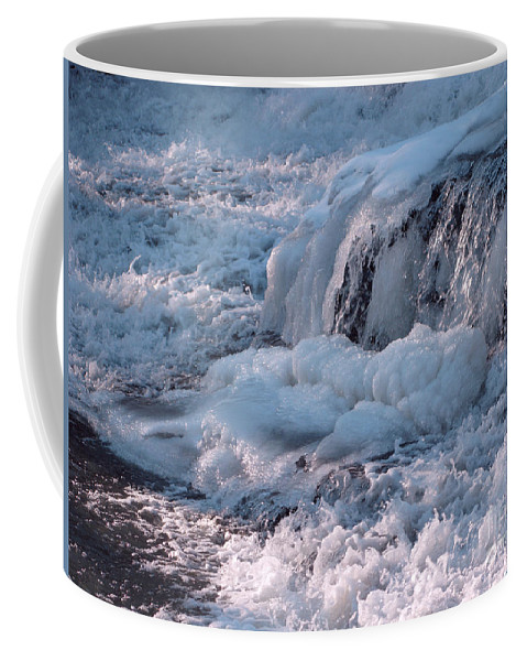 Winter Coffee Mug featuring the photograph Iced Water by Ann Horn