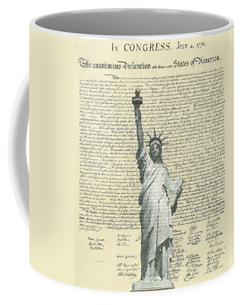 Statue+of+liberty Coffee Mug featuring the photograph Icon Of Freedom by Charles Beeler