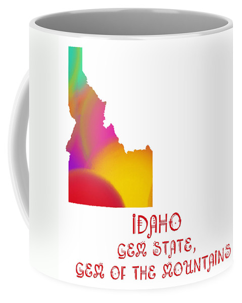 Andee Design Coffee Mug featuring the digital art Idaho State Map Collection 2 by Andee Design