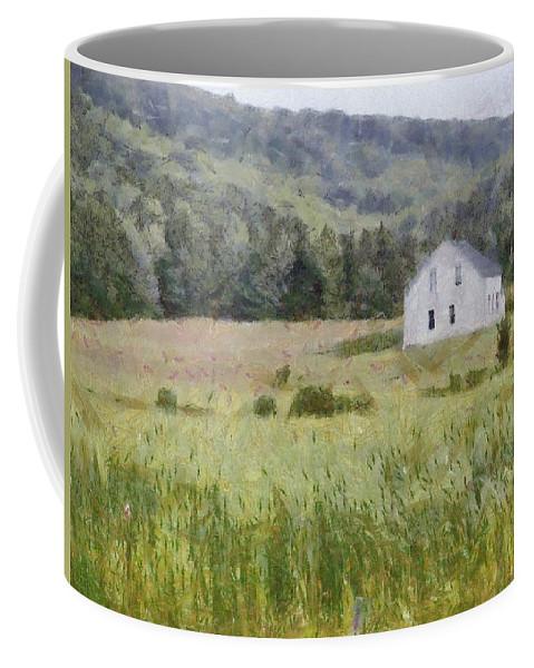 Alone Coffee Mug featuring the painting Idyllic Isolation by Jeffrey Kolker