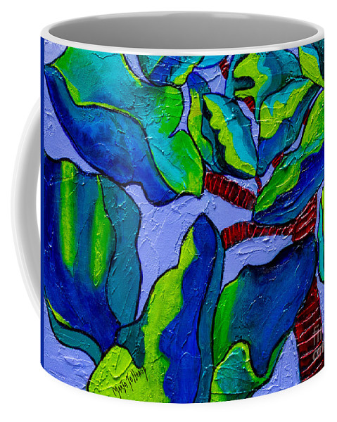 Plant Paintings Coffee Mug featuring the painting If Dragons Were Plants by Marta Tollerup