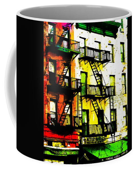 New York Coffee Mug featuring the digital art If You Can Make It There by Terry Fiala