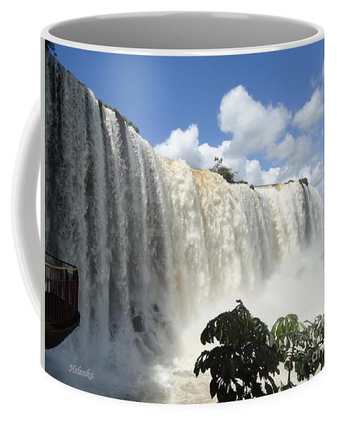 Falls Coffee Mug featuring the painting Iguacu Falls by Helena Wierzbicki
