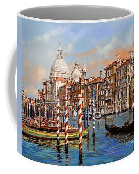 Venice Coffee Mug featuring the painting Il Canal Grande by Guido Borelli