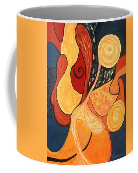 Abstract Art Coffee Mug featuring the painting Illuminatus 4 by Stephen Lucas
