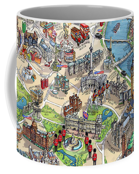 Illustrated Map Of London Coffee Mug on historical map of london, art map of london, painted map of london, business map of london, black map of london, color map of london, interactive map of london, simple map of london, watercolor of london, graphic map of london, travel map of london, childrens map of london,