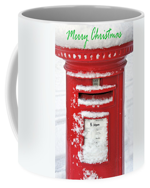 Christmas Card Coffee Mug featuring the photograph I'm Dreaming Of A White Christmas by Mal Bray