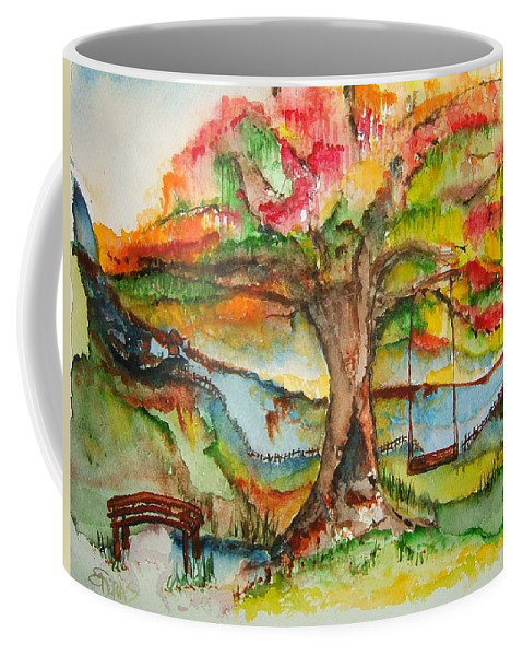 Fantasy Coffee Mug featuring the painting Imagination Place by Elaine Duras