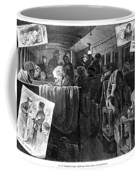 1881 Coffee Mug featuring the painting Immigrant Coach Car, 1881 by Granger