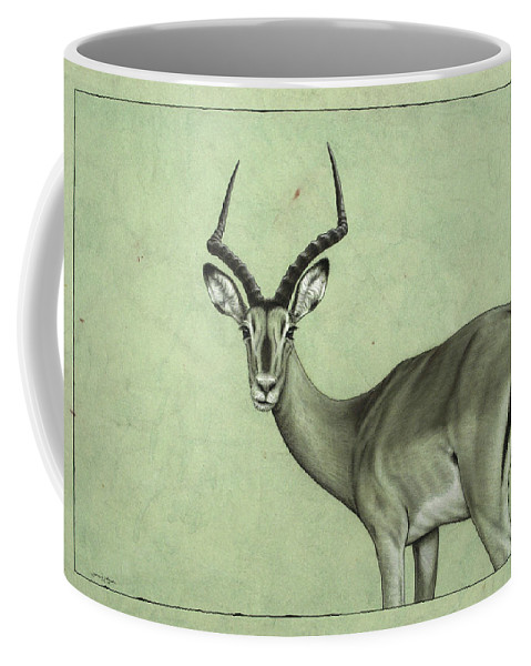Impala Coffee Mug featuring the painting Impala by James W Johnson