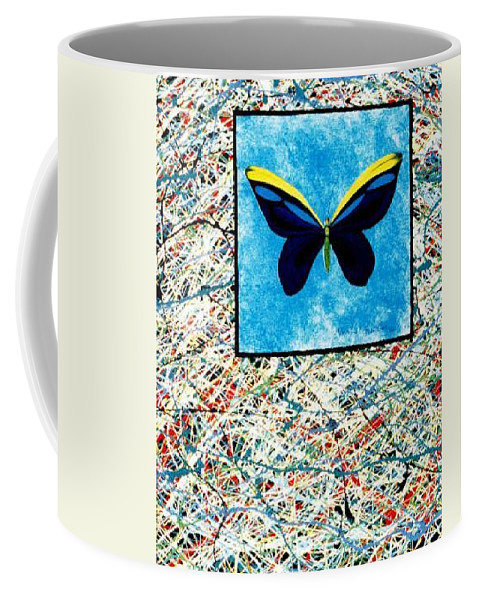 Abstract Coffee Mug featuring the painting Imperfect II by Micah Guenther