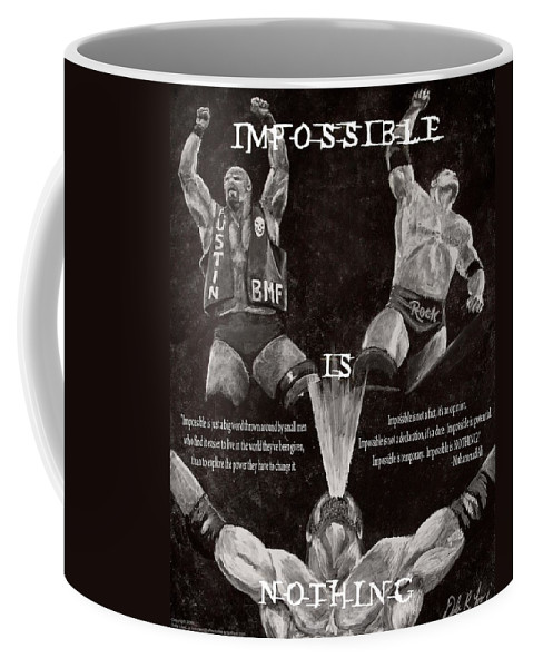 Wwe Coffee Mug featuring the painting Impossible Is Nothing by Dale Loos Jr