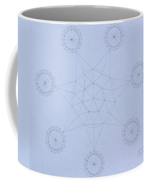 Jason Padgett Coffee Mug featuring the drawing Impossible Parallels by Jason Padgett