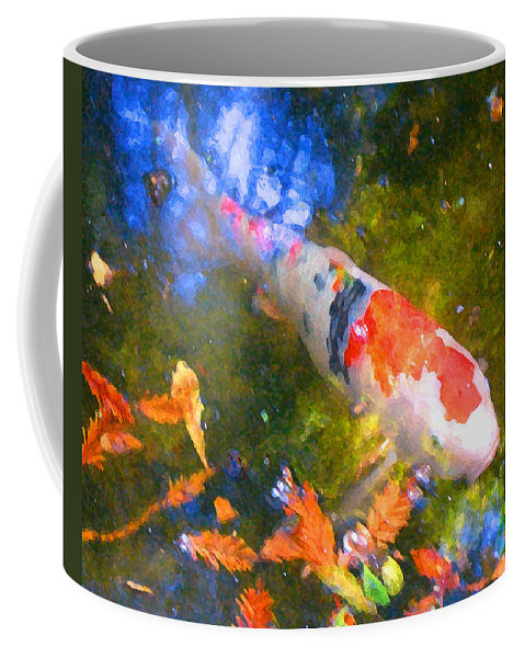 Fish Coffee Mug featuring the painting Impressionism Koi 2 by Amy Vangsgard
