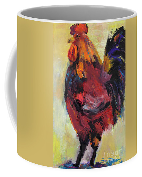 Pat Saunders-white Coffee Mug featuring the painting In Command by Pat Saunders-White