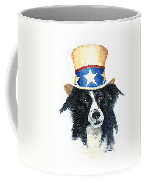 Dog Coffee Mug featuring the painting In Dog We Trust by Jerry McElroy
