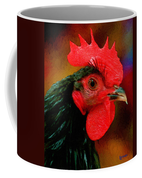 Bird Coffee Mug featuring the painting In Fine Fettle by RC DeWinter