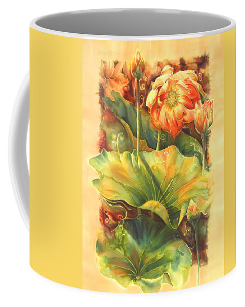 Flower Coffee Mug featuring the painting In Full Bloom by Deborah Younglao