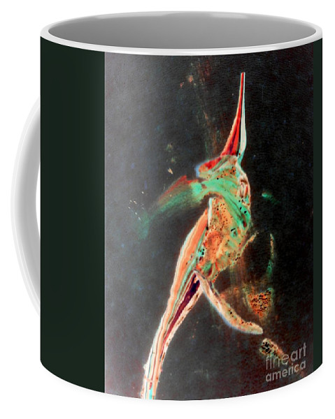 Body Art Coffee Mug featuring the painting In Jest by Jacqueline McReynolds