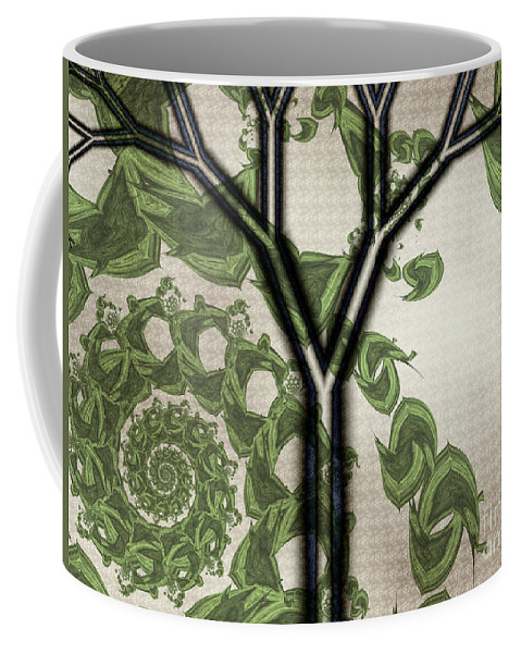 In Like A Lion Coffee Mug featuring the digital art In Like A Lion by Kimberly Hansen
