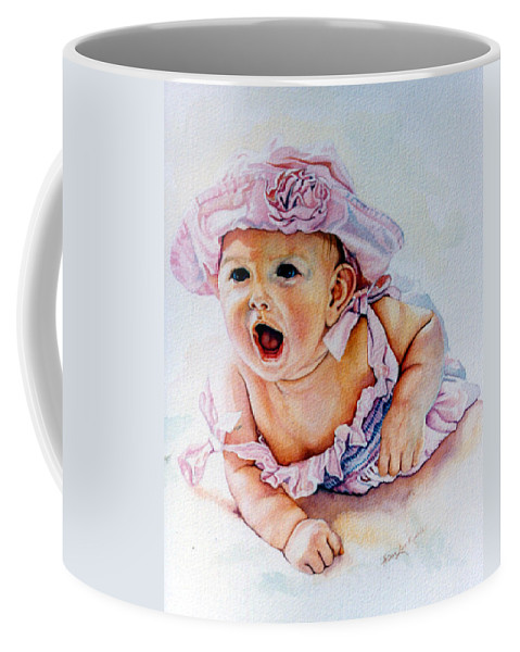 Baby Coffee Mug featuring the painting In My Opinion by Hanne Lore Koehler