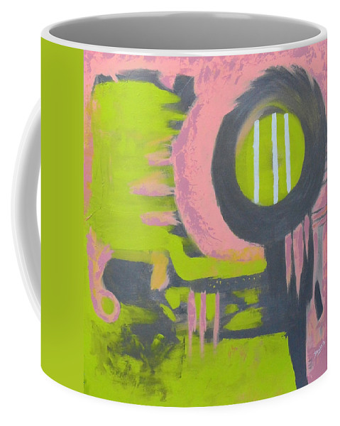 Modern Coffee Mug featuring the painting In My Sights by Donna Blackhall