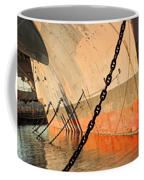 Carrier Coffee Mug featuring the photograph In Port by Michael Porchik