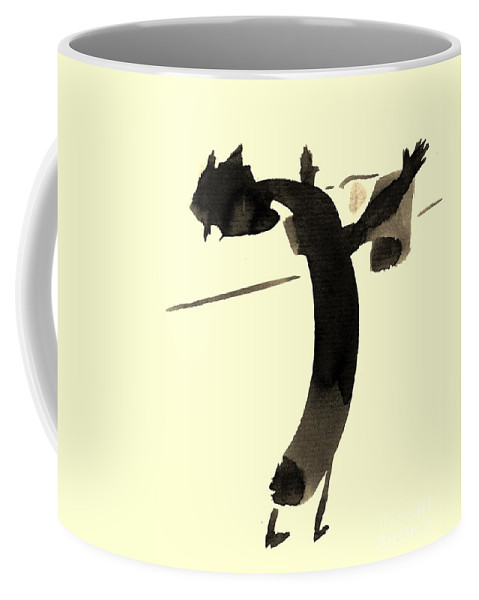 Illustration Coffee Mug featuring the drawing In Rotation by Karina Plachetka