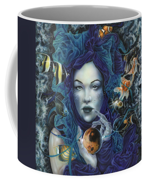 North Dakota Artist Coffee Mug featuring the painting In Search Of Balance by Wayne Pruse