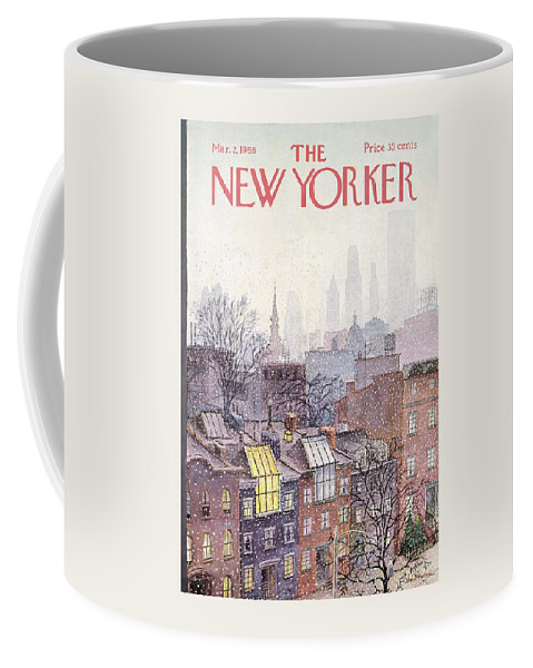 Albert Hubbell Ahu Coffee Mug featuring the painting In The Borough by Albert Hubbell