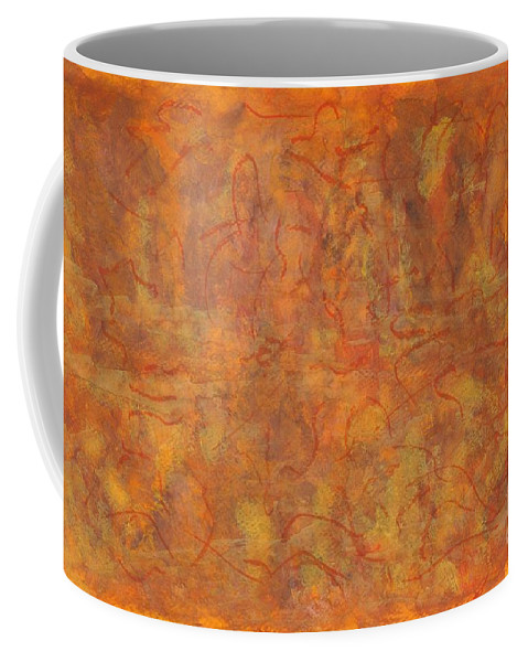 Abstract Coffee Mug featuring the painting In The Caverns You Will Find by Myrtle Joy