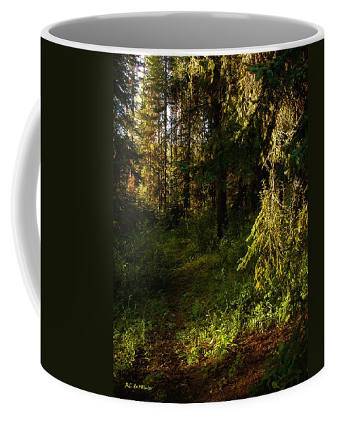 Landscape Coffee Mug featuring the painting In The Druid Cathedral by RC DeWinter