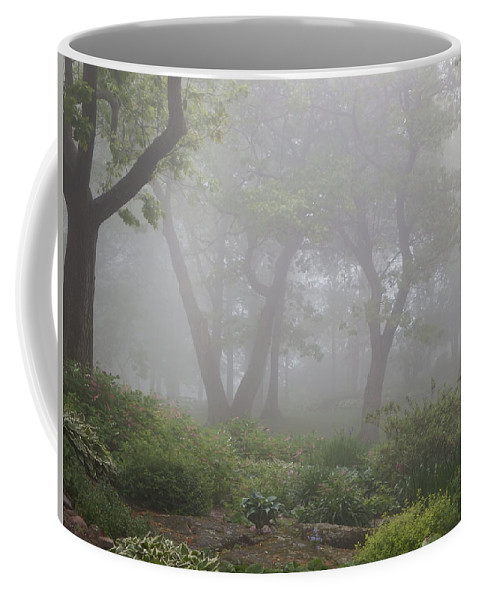 Fog Coffee Mug featuring the photograph In The Garden by Alison Gimpel