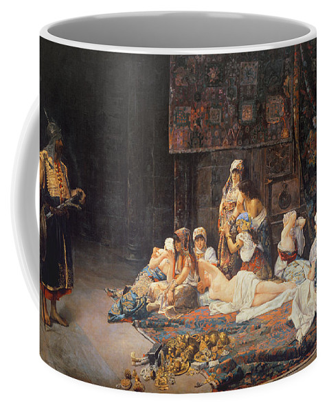 Au Serail Coffee Mug featuring the painting In The Harem by Jose Gallegos Arnosa