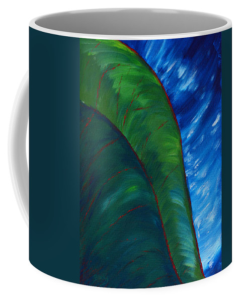 Jungle Coffee Mug featuring the painting In The Jungle by Donna Blackhall