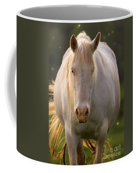 Unicorn Coffee Mug featuring the photograph In The Land Of Unicorns by Angel Ciesniarska