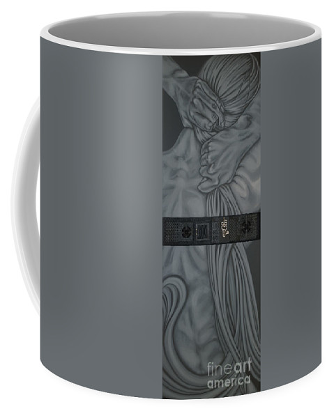 Surreal Coffee Mug featuring the painting Two Halfs of Us by Judy Henninger