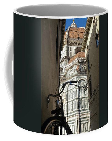 Florence Coffee Mug featuring the photograph In The Shadow Of Il Duomo by Christopher Rees